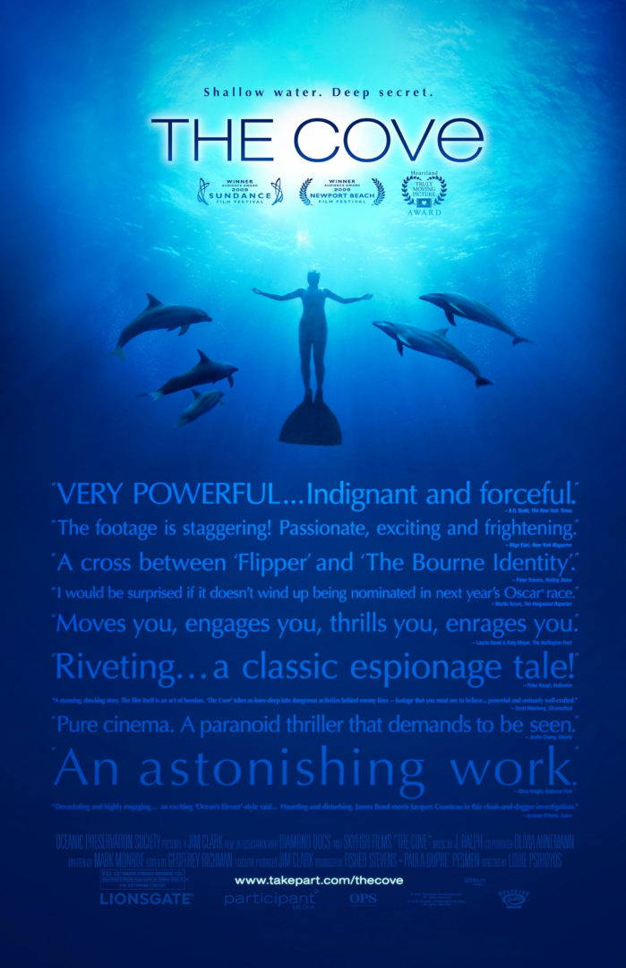 Poster of an Oscar winning documentary, 'The Cove'