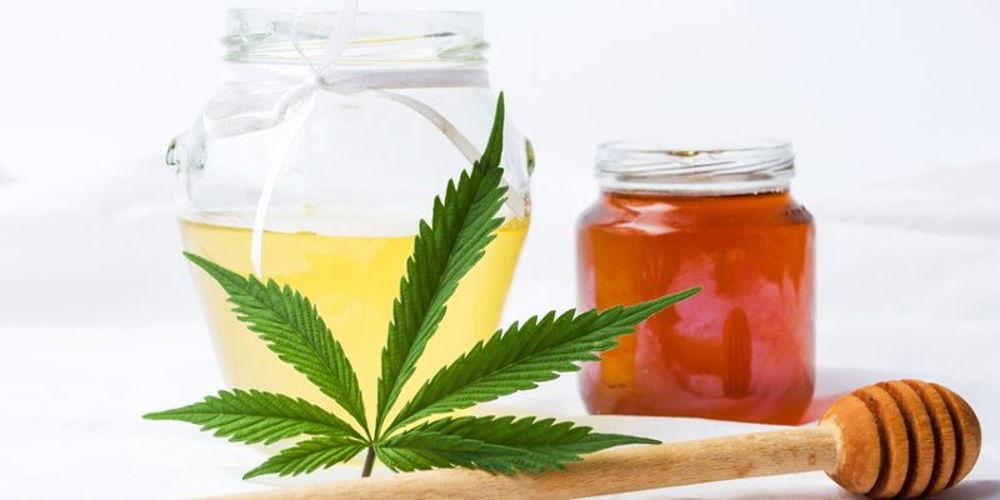 Cannabis Honey in a Jar