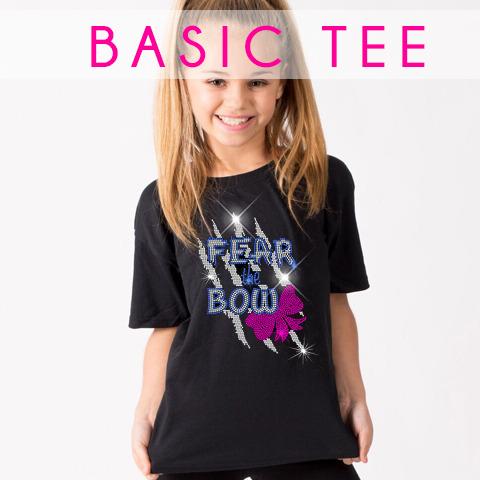 glitterstarz basic black tee shirt custom bling apparel