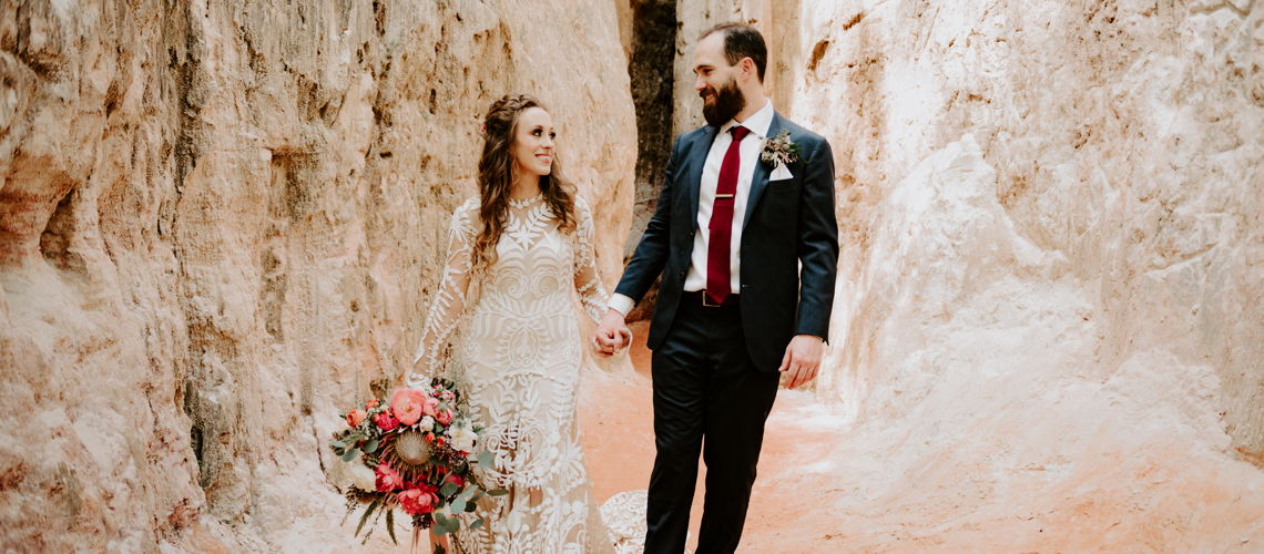 Intimate Bohemian Canyon Wedding