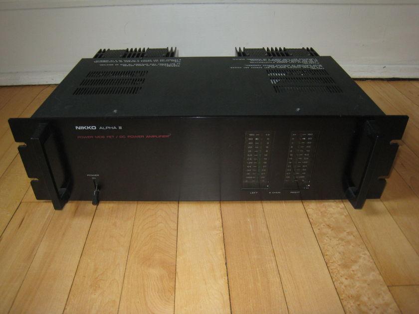 Nikko Alpha III MOS FET power amplifier