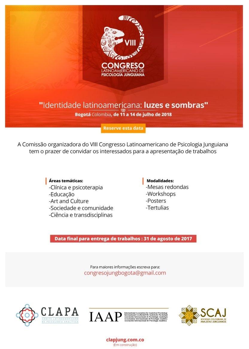 VIII Congresso Latino-Americano de Psicologia Analítica - Envio de Trabalhos até 31/agosto