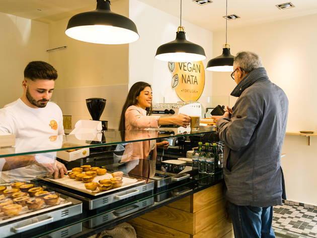 Our team picks Vegan Nata to get a vegan version of pastel de nata.