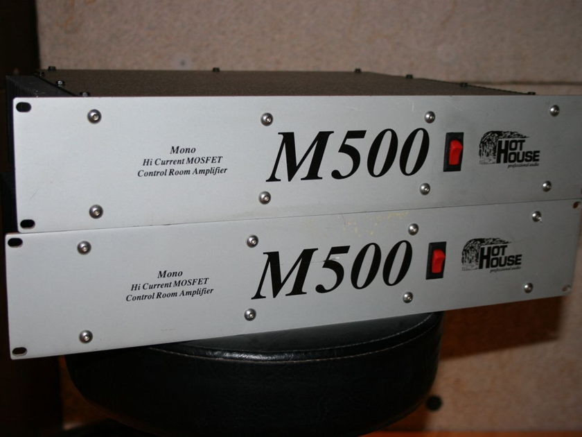 HotHouse / Hot House M500 pair of mono block mastering amplifiers