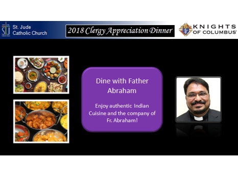 A great Indian meal with Fr. Abraham
