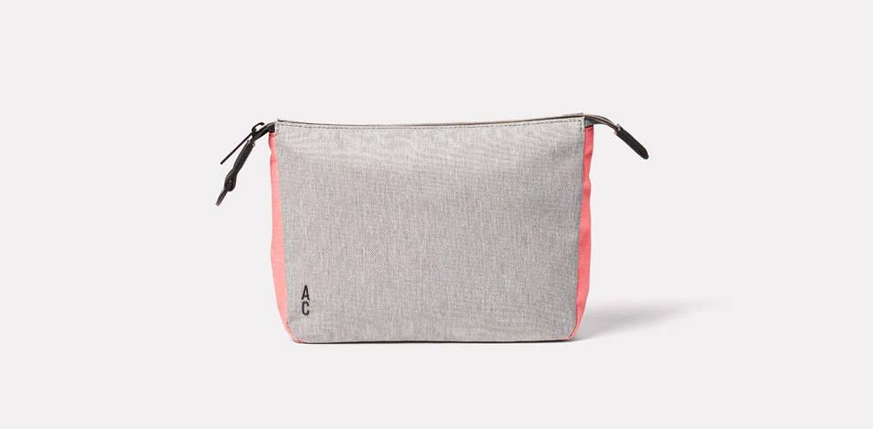 Wiggy Travel and Cycle Washbag in Grey/Orange