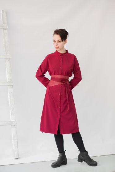 Платье-рубашка трансформер   вино