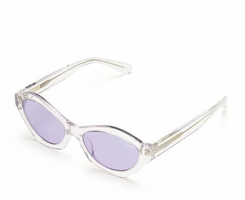 Quay Geometric Cat's Eye Sunglasses in Purple