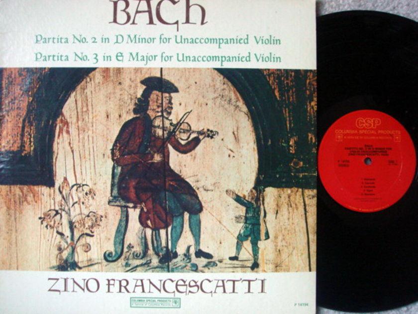 Columbia / FRANCESCATTI, - Bach Unaccompanied Partitas no.2 & 3, NM!