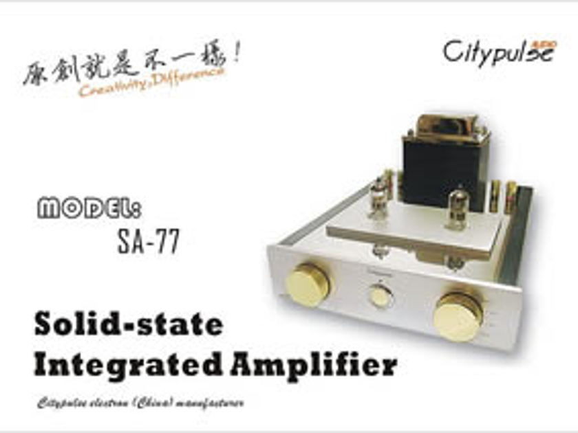 City Pulse SA-77 HYBRID INTEGRATED AMPLIFIER Amazing midrange with authority !