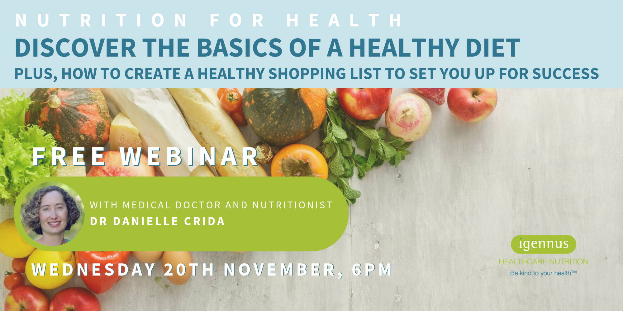 Discover the basics of a healthy diet free online nutrition webinar