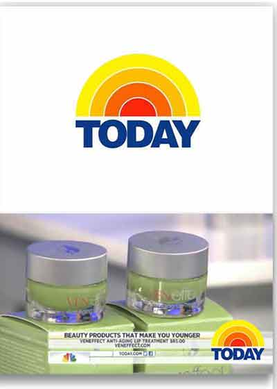 Today Show video screen clip featuring VENeffect Skin Care
