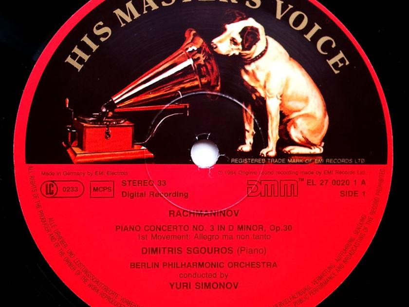 EMI HMV   SGOUROS/RACHMANINOFF - Piano Concerto No. 3 / NM