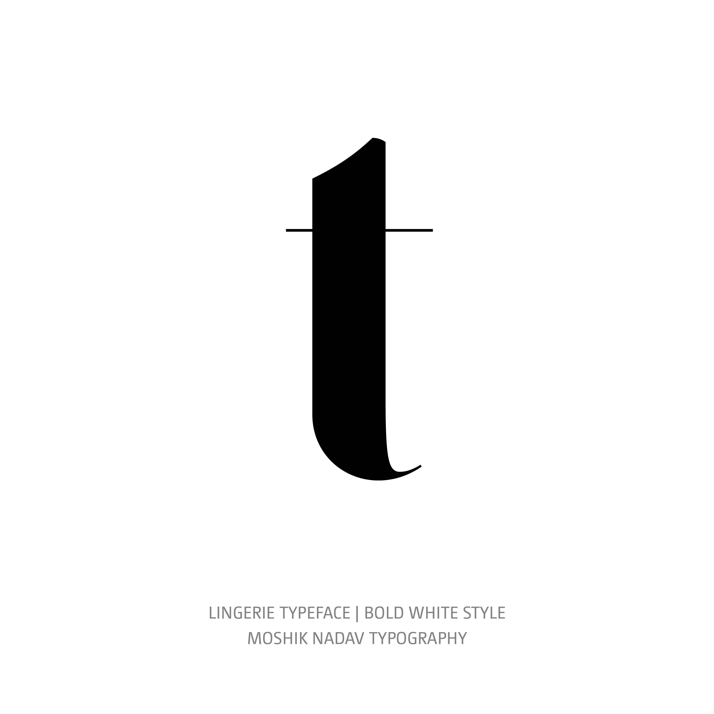 Lingerie Typeface Bold White t