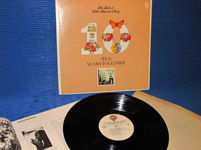 """PETER, PAUL & MARY -  - """"Ten Years Together"""" - Warner Bros 1970 w/booklet"""