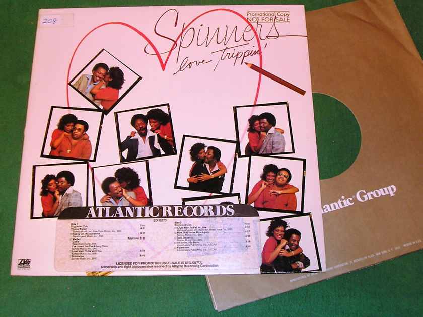 SPINNERS - LOVE TRIPPIN' -  - RADIO STATION STICKERS - PROMOTIONAL COPY NOT FOR SALE * 9/10 *