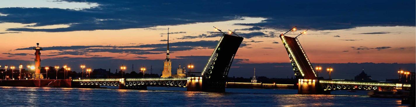 Ночное разведение мостов с борта теплохода