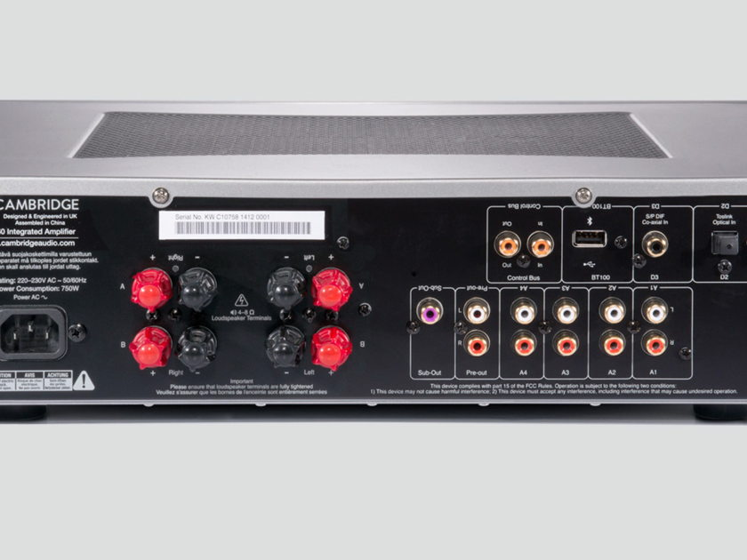 CAMBRIDGE AUDIO CXA60 60W Integrated Amplifier: Manufacturer Refurbished; Full Warranty; 37% Off