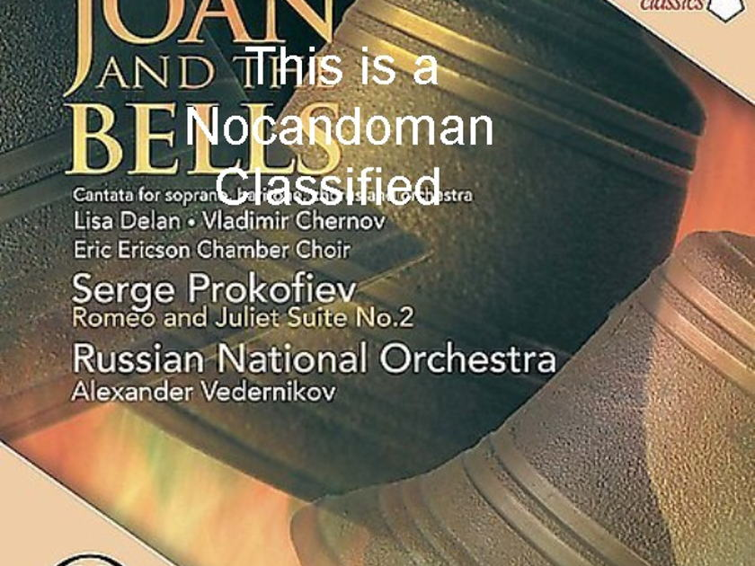 GETTY JOAN AND BELLS - PROKOFIEV RUSSIAN NATIONAL ORCHESTRA FREE SHIPPING IN U.S.