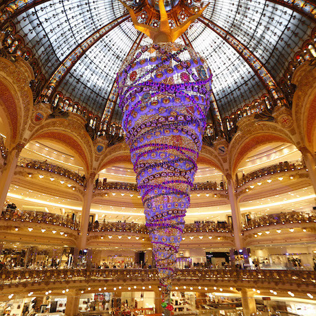 Upside Down Christmas Tree Galeries Lafayette, Paris