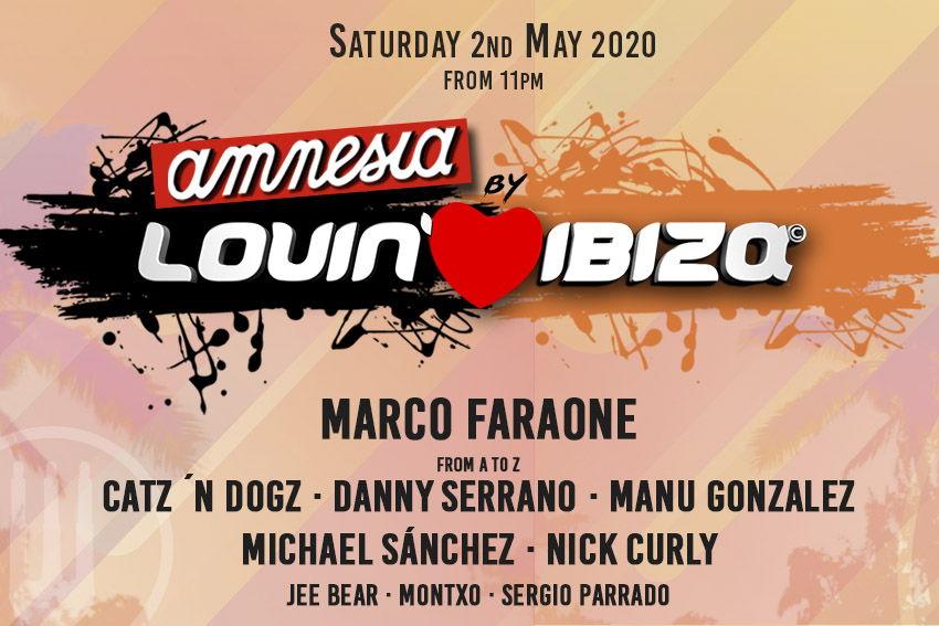 Lineup Amnesia Lovin Ibiza 2020 tickets