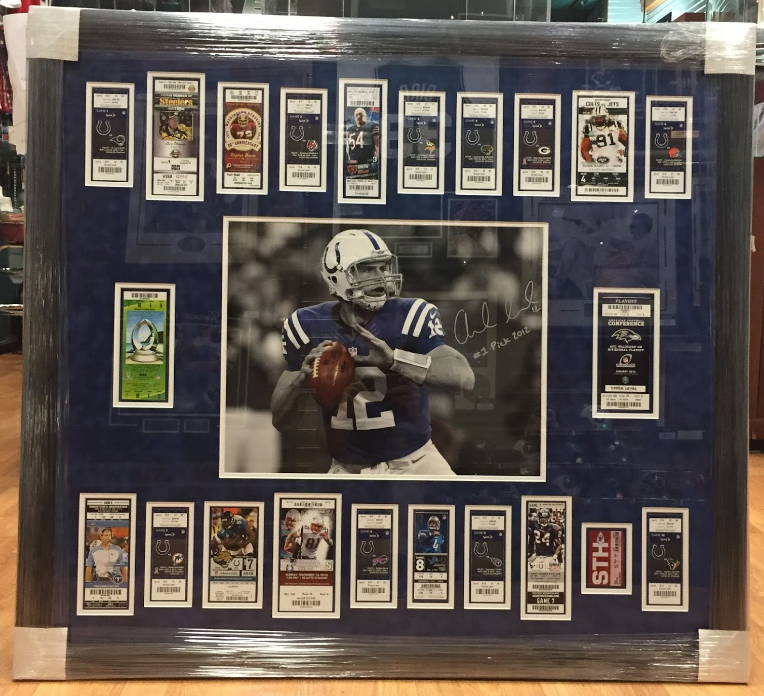 Custom framing service collectors den based on what time of the year it is but typically our turn around time is about 2 weeks shipping items back and forth will lengthen the time frame jeuxipadfo Choice Image