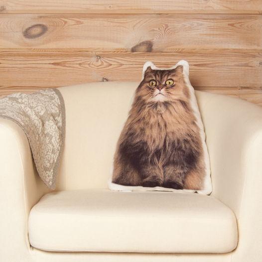 Подушка декоративная Персидская кошка, подарок на новый год