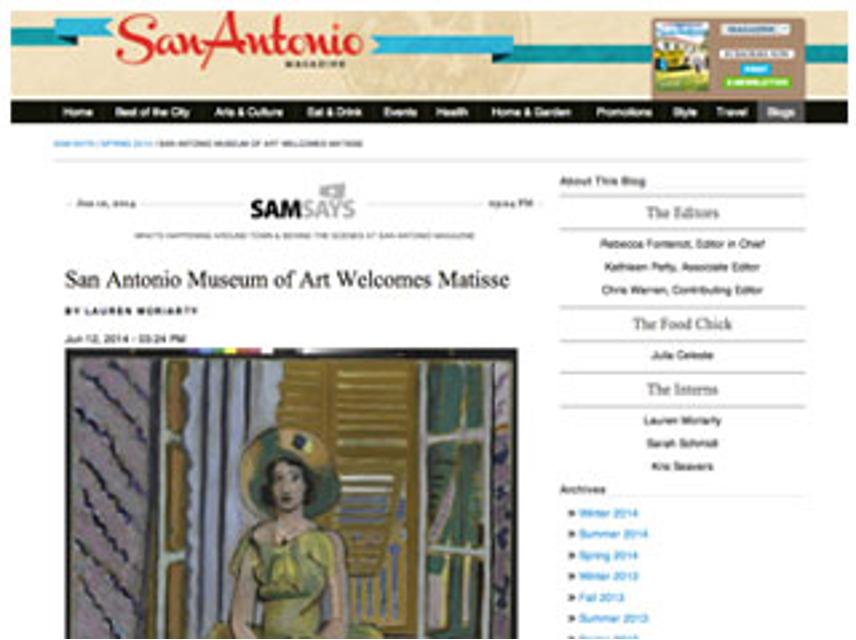 Matisse, San Antonio Mag