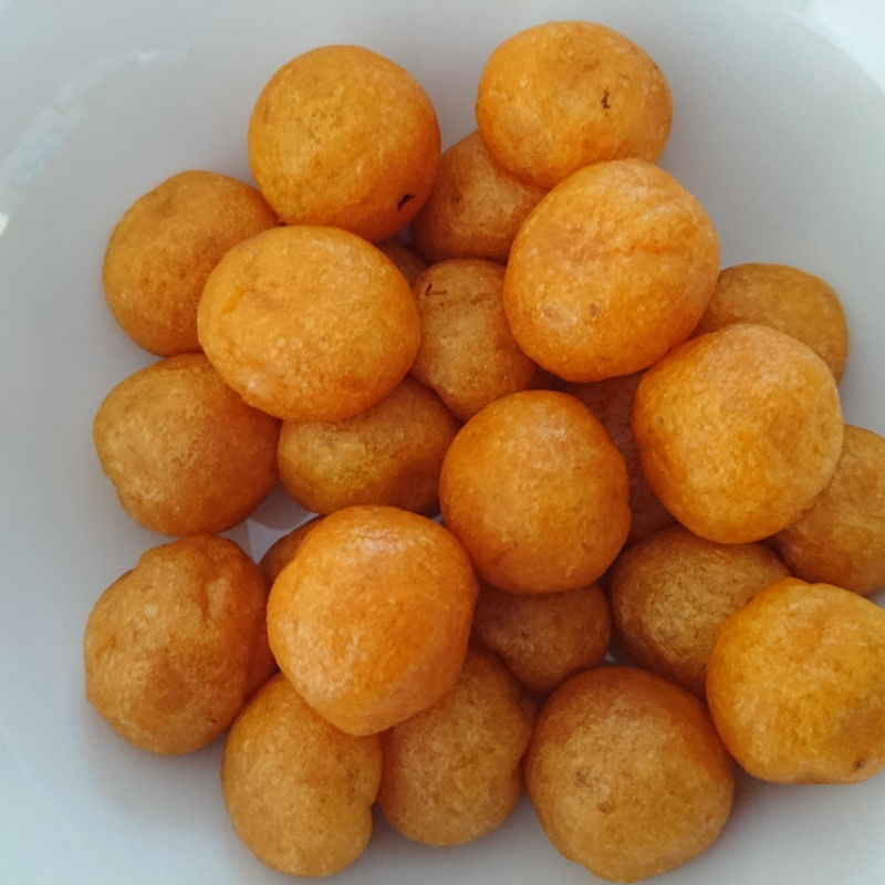 Date: 18 Oct 2019 (Fri) 4th Snack: Sweet Potato Balls: [72] [100.1%] [Score: 10.0] Author: Nyonya Cooking [Grace Teo] Cuisine: Taiwanese Dish Type: Snack  Crispy on the outside and chewy on the inside. I was shocked! The evil Guardian of the Kitchen gave this a 10.0! I had nothing better than to comply with a 10.0 also! Thank you MasterChef Grace Teo for sharing this awesome dish.