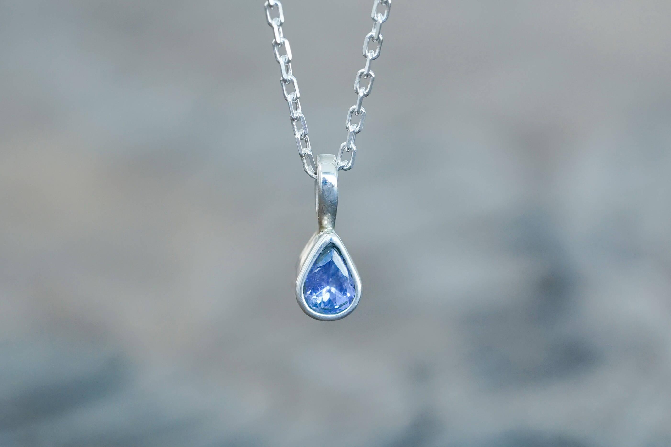 Custom silver gemstone necklace
