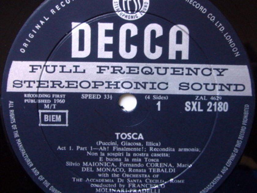 DECCA SXL-WB-ED1 / TEBALDI-DEL MONACO, - Puccini Tosca, NM, 2LP Box Set!