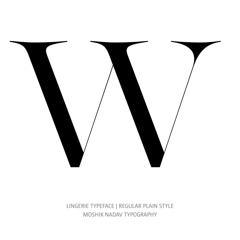 Lingerie Typeface Regular Plain W