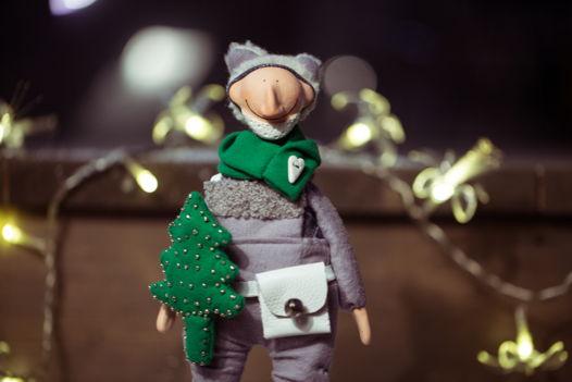 Мишка новогодний праздничный