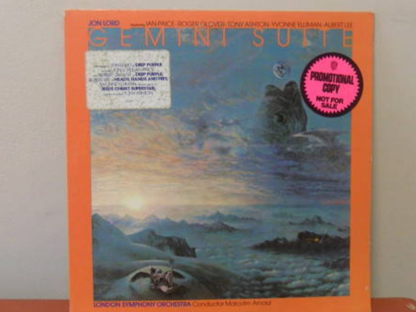 Rare Promo: Jon Lord - IAN Pace r glover of deep purple: gemini suite m-