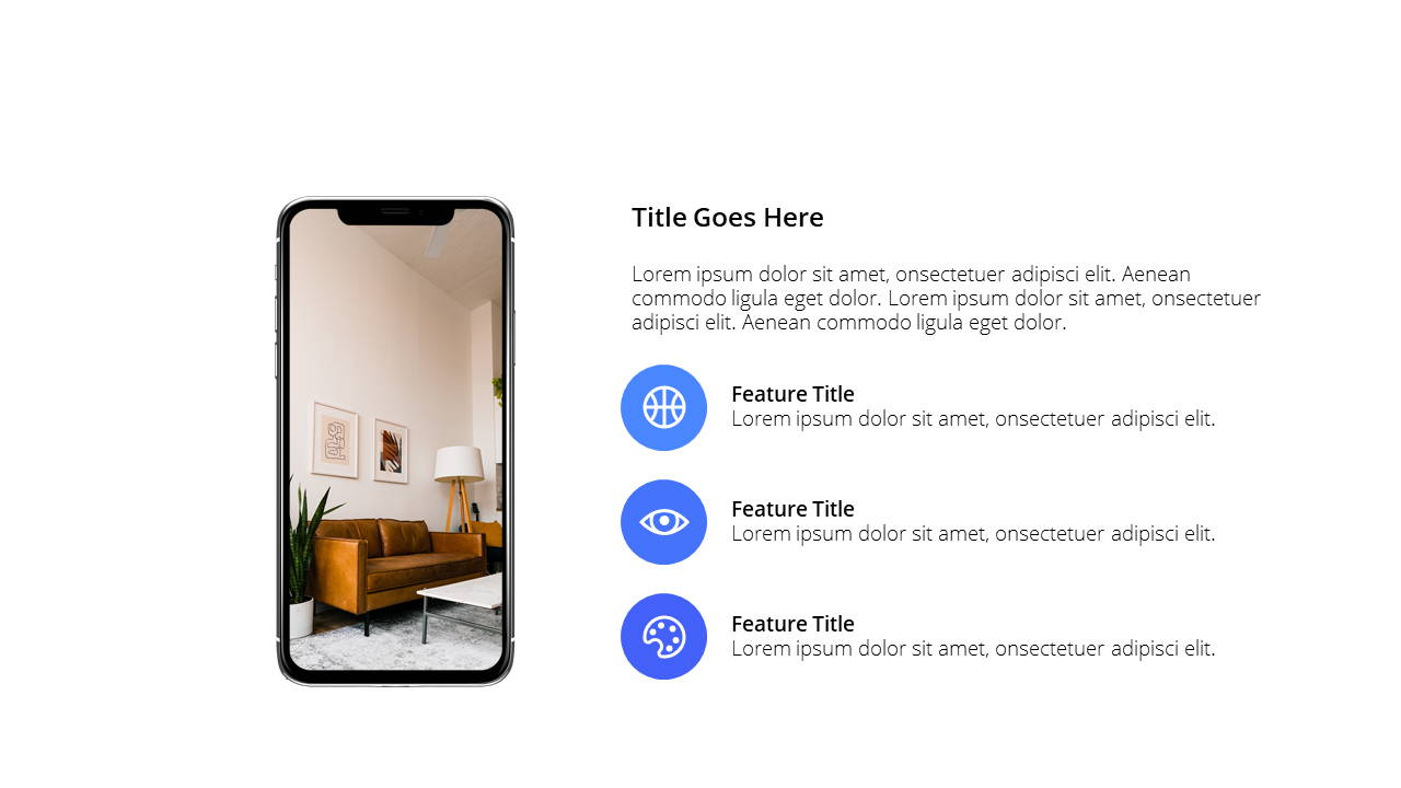 Modern X App/Software Showcase Presentation Template Smartphone Overview