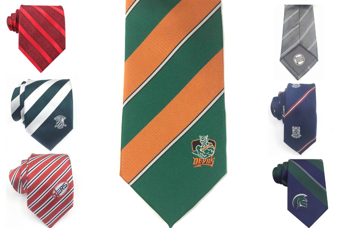 Striped Custom Logo Neckties