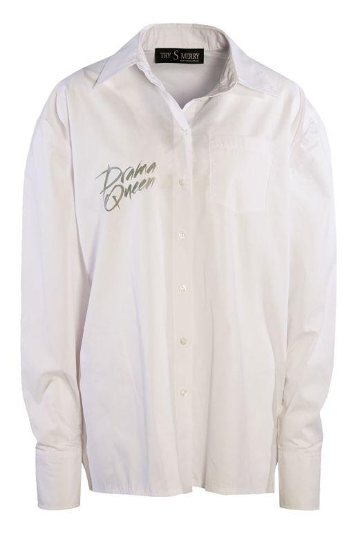 Drama Queen White Shirt