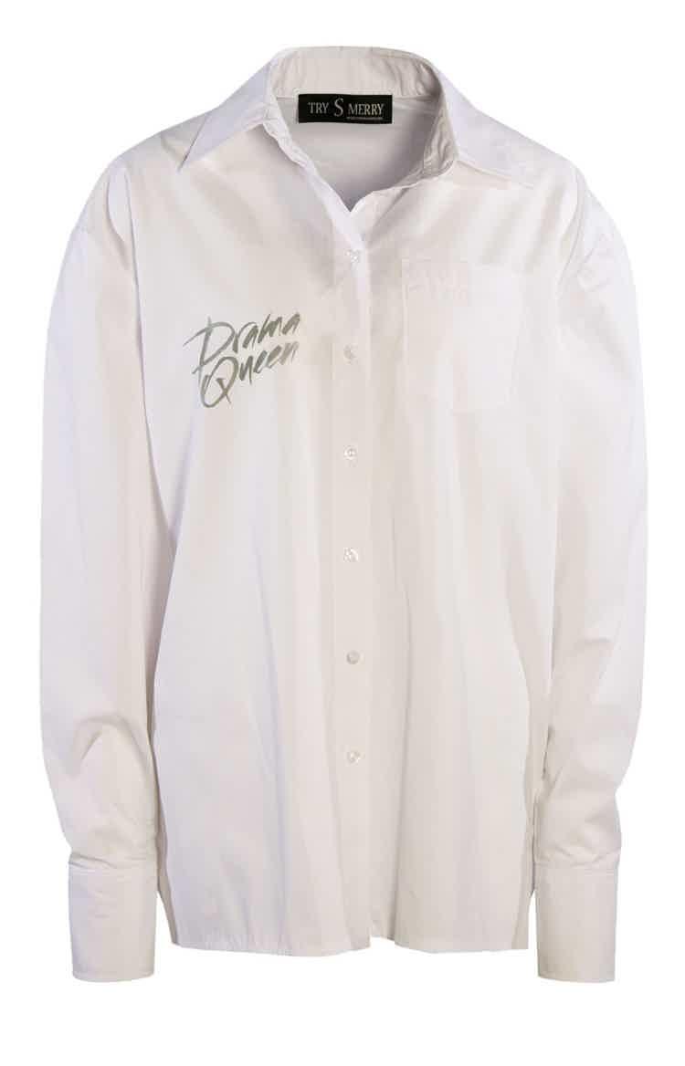 Drama Queen Shirt White