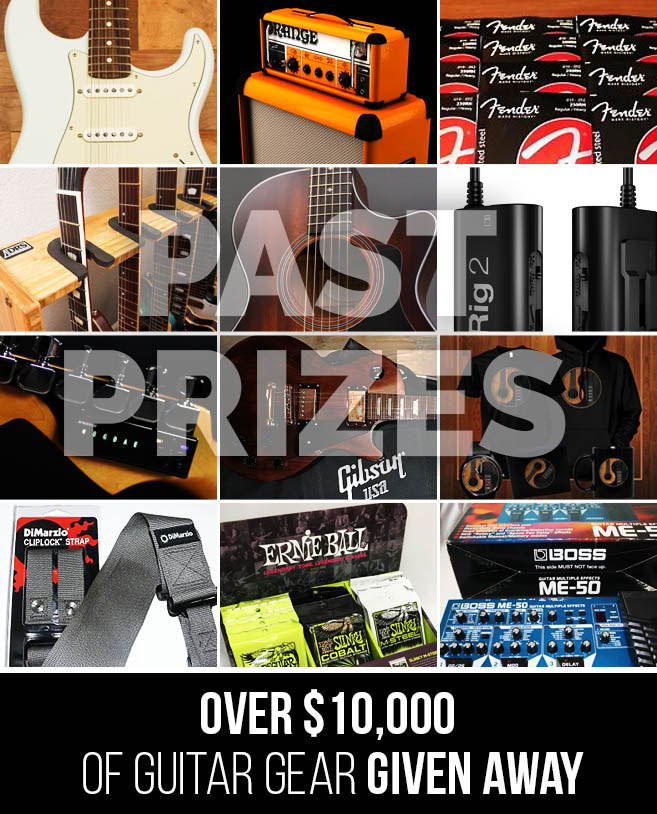 Collection Of Past Guitar Prizes