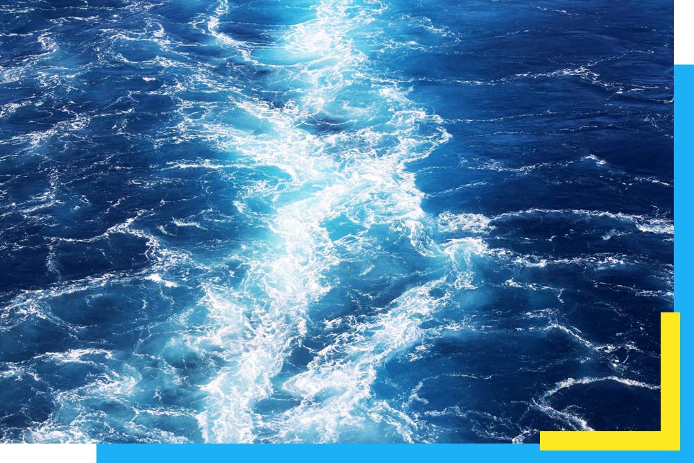 ocean water close up representing energy efficiency
