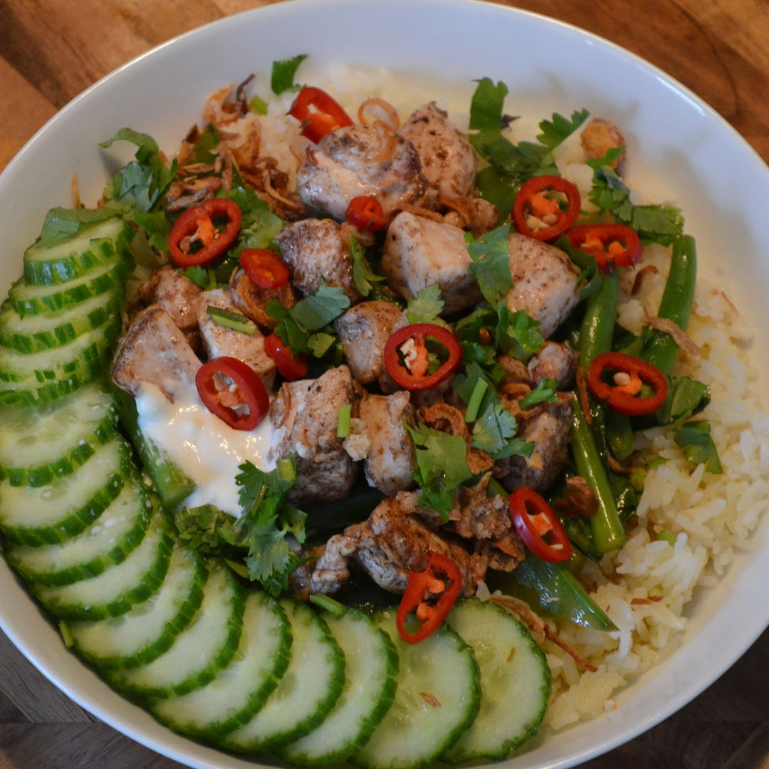 Date: 4 Jun 2020 (Thu) 137th Main: Asian Chicken Bowl with Garlic Aioli [379] [165.2%] [Score: 10.0] Cuisine: Asian Dish Type: Main