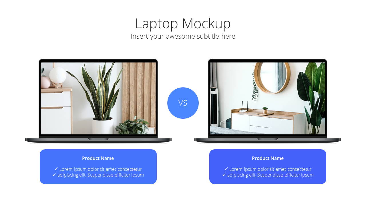 Modern X App/Software Showcase Presentation Template Comparison