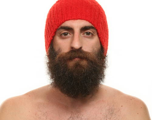 Man in wooly hat