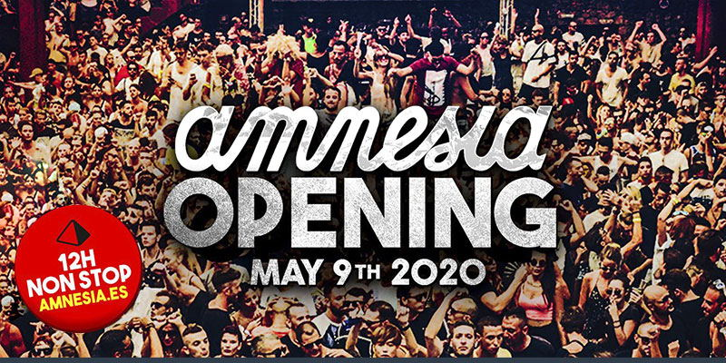 tickets amnesia opening party 2020, information party calendar amnesia Ibiza