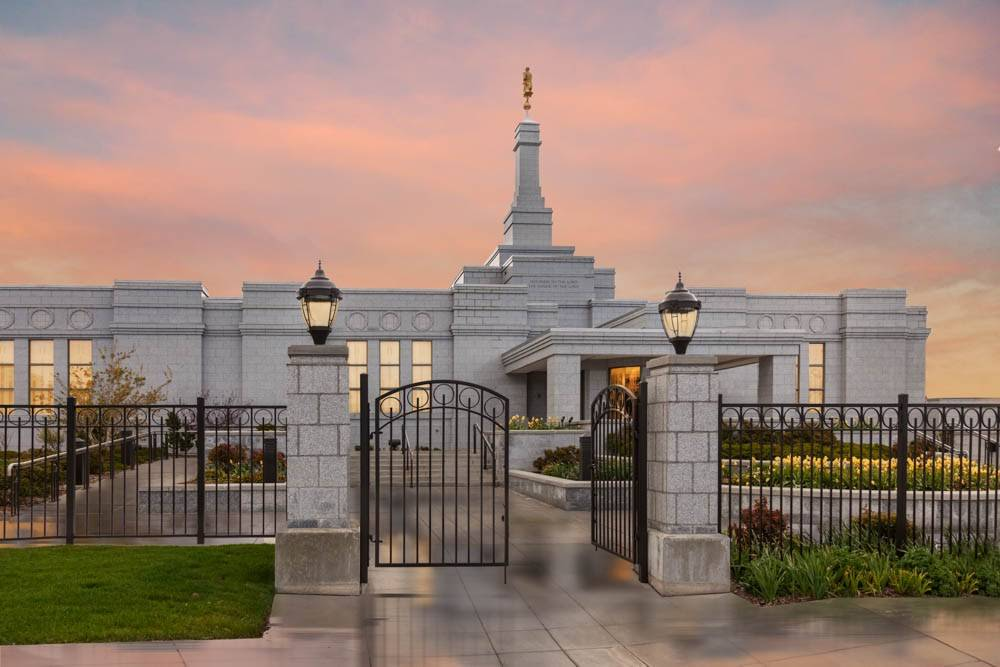 Photo of Reno Nevada LDS Temple gales.