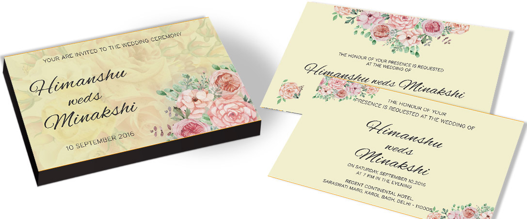 Flourish charm Wedding Invitation