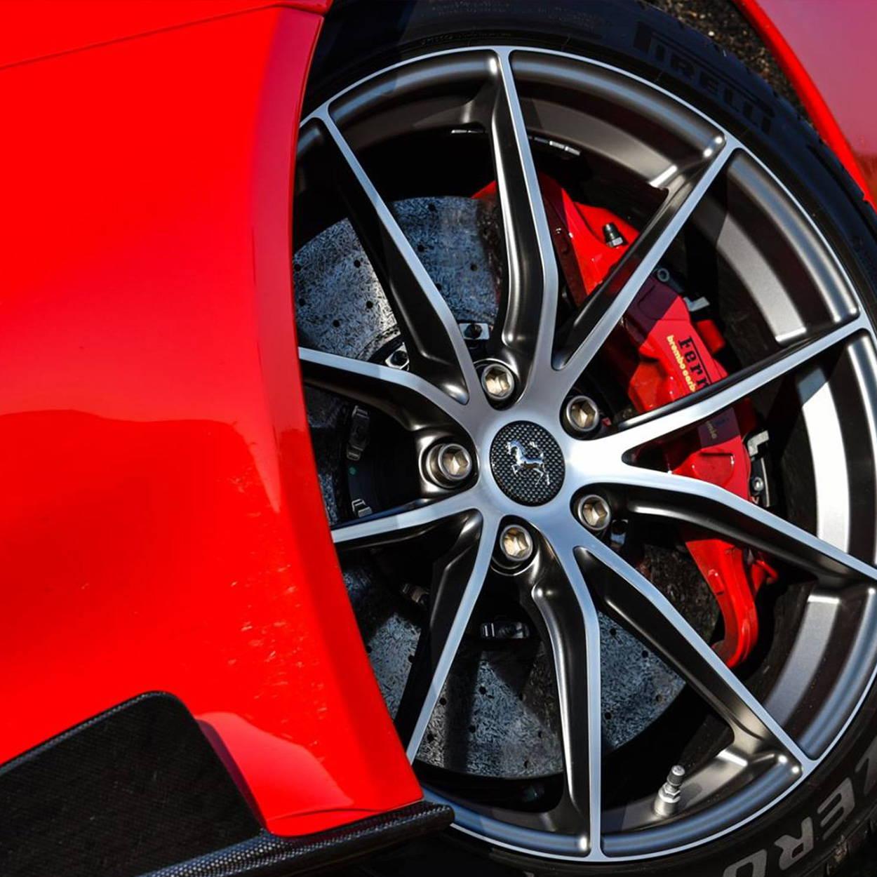 Ferrari red driving gloves