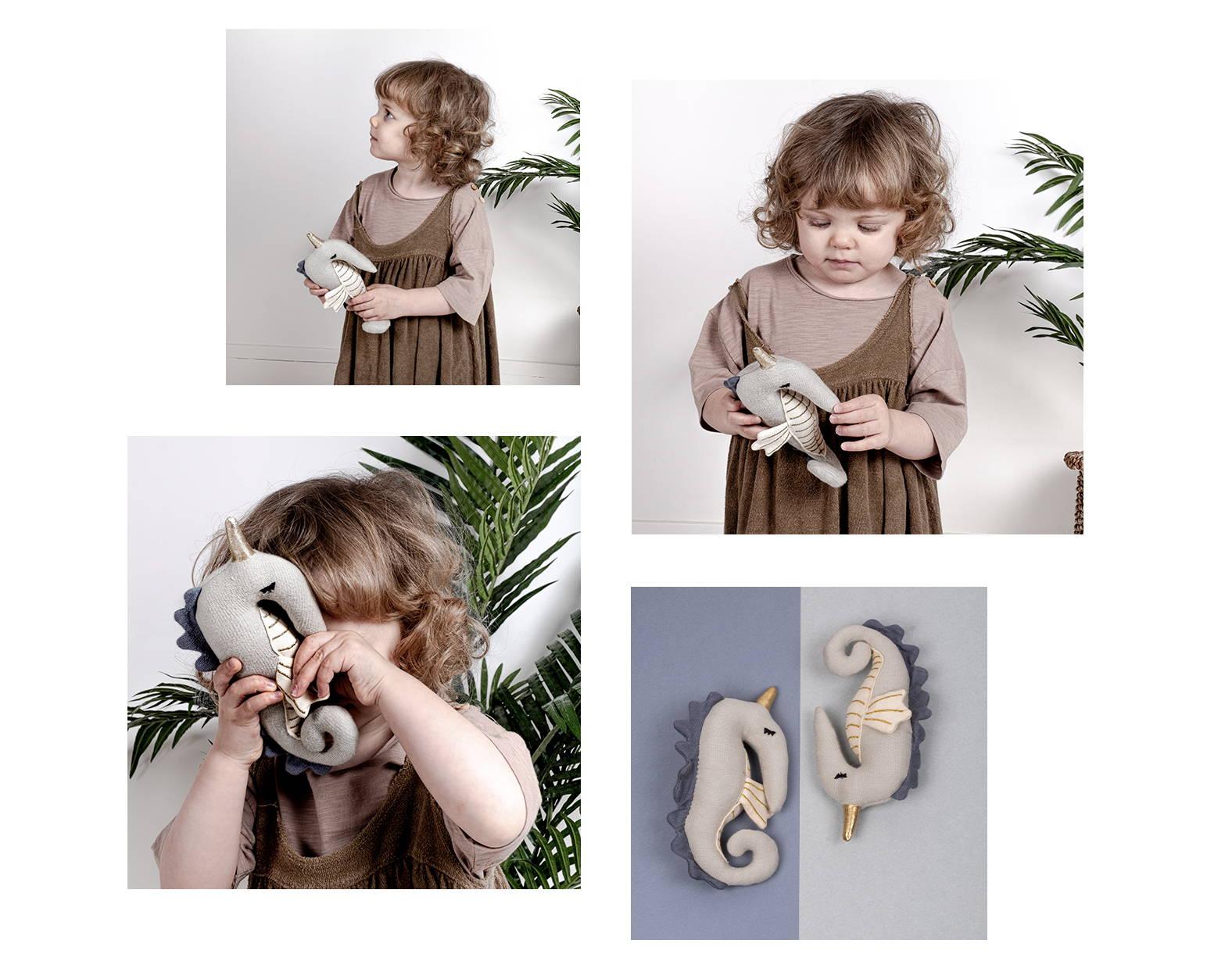 Hochet pour bébé en coton biologique