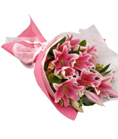 Bangalore Flowers Special Pink Lily