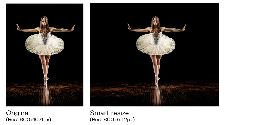 Smart resize in action